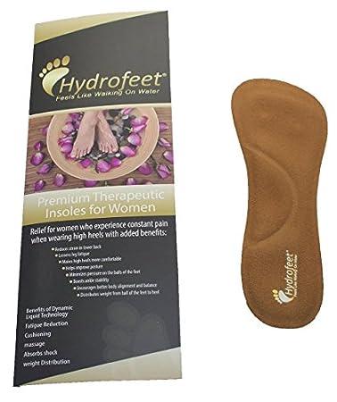 b984d6584e2a Hydrofeet Gold Women s High Heel Inserts Premium Massaging Insert Liquid  Insole Combined With Memory Foam Arch