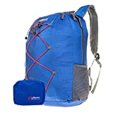 Lightweight Blue Packable Daypack Backpack, EZ Pack Unpack Ideal for Casual Hiking Travel