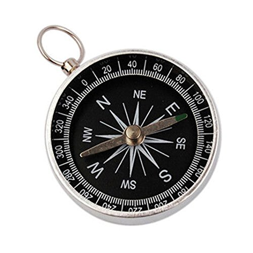 OVERMAL Camping Compasses Hiking Lightweight Aluminum Wild Survival Professional Compass Navigation (Lightweight Turquoise Necklace)