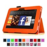 Fintie (Orange) Slim Fit Leather Case Cover Auto Sleep/Wake for Kindle Fire HD 7″ Tablet (will only fit Kindle Fire HD 7″) – Multiple Color Options, Best Gadgets