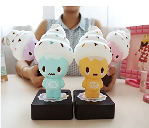 Lovely Ice Cream LED Night Light Novelty Products Christmas Lights Children And Baby Bedroom Table Lamp USB Cable4 Color Available Outdoor or indoor