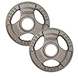 Body Revolution Olympic Weight Plates by Tri Grip Cast Iron Weight Set - 1.25kg 2.5kg 5kg 10kg 15kg...