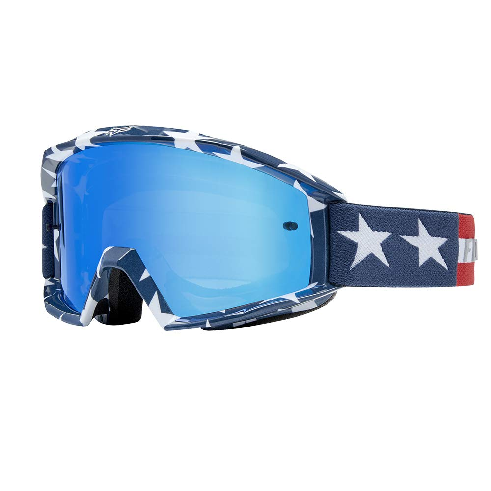 Fox Racing 2019 Main Goggles - Stripe (White/RED/Blue) by Fox Racing
