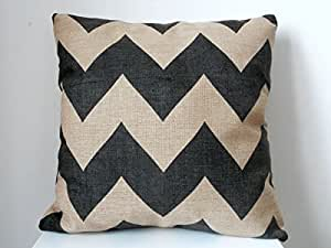 B Lyster shop Black Zig Zag Chevron Fade Zigzag Stripes Wave J233 Cotton & Polyester Soft Zippered Cushion Throw Case Pillow Case Cover