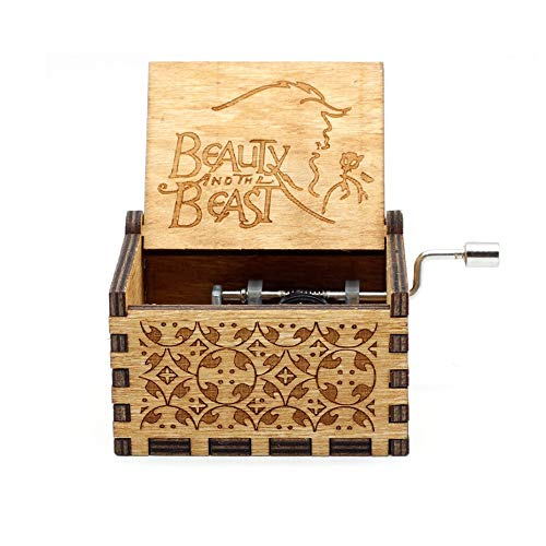 VDV Music Box - Wholesale Antique Carved Wooden Hand Crank Music Box Birthday Gift Party Casket Anonymity Decoration
