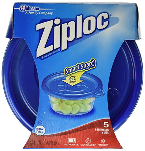 Amazon.com Ziploc Storage Containers 14 Oz containers 5 ct Health u0026 Personal Care  sc 1 st  Amazon.com & Amazon.com: Ziploc Storage Containers 14 Oz containers 5 ct: Health ...
