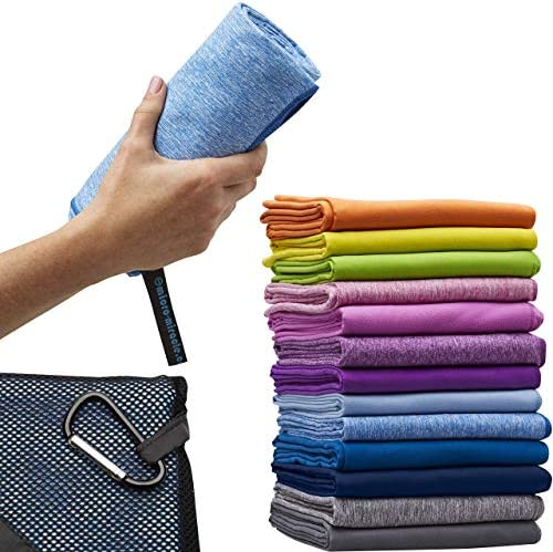Quick Dry Includes 2 Sizes Lightweight Yoga Backpacking Carrying Bag /& Clip for Camping Beach Super Absorbent Swimming ScorchedEarth Microfiber Travel /& Sports Towel Set Hiking Compact