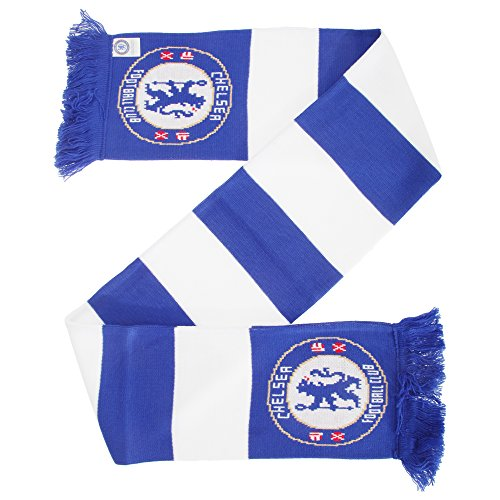 Chelsea FC Official Football/Soccer Crest Bar Scarf (One Size) (Blue/White) ()