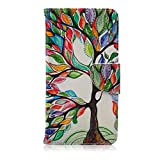 LG G Stylo Case,JanCalm [Perfect Fit][Kickstand] Pattern Premium PU Leather Wallet [Card/Cash Slots] Flip Cover for LG G Stylo / LG G4 StylusIncluding-ONE Crystal Pen (Beautiful tree)