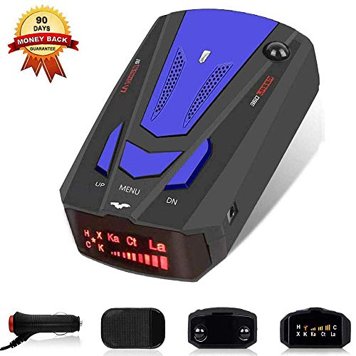 Laser Radar Detector,Voice Prompt Speed for Cars, Vehicle Speed Alarm System,LED Display,City/Highway Mode,Auto 360 Degree Detection (FCC)