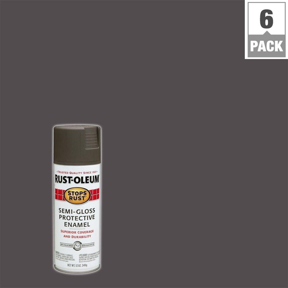12 oz. Protective Enamel Gloss Anodized Bronze Spray Paint (6-Pack)