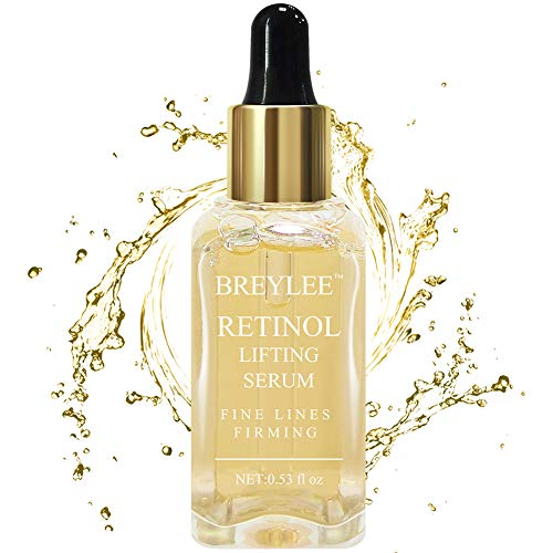 Retinol Serum, Breylee Anti Aging Anti Wrinkle Face Serum Vitamin A Retinol with Natural Ingredients for Skin Care Eye Care Fade Lines Acne Scars Dark Spots (15ml, 0.53 Fl Oz)