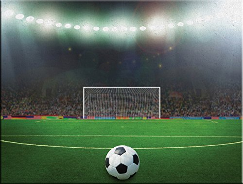 JP London LCNV2361 Penalty Kick Soccer Football Field 2'' Thick Heavyweight Stretched Canvas Art Mural, 46'' x 34'' by JP London