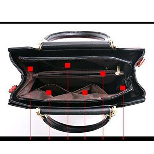 Bolso De Mano Superior De La Taleguilla Del Bolso De Hombro De Cuero De La PU De Señora Fashion Stripe Red