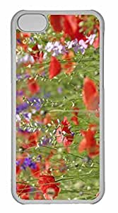iPhone 5C Case, Personalized Custom Wildflowers Close Up for iPhone 5C PC Clear Case