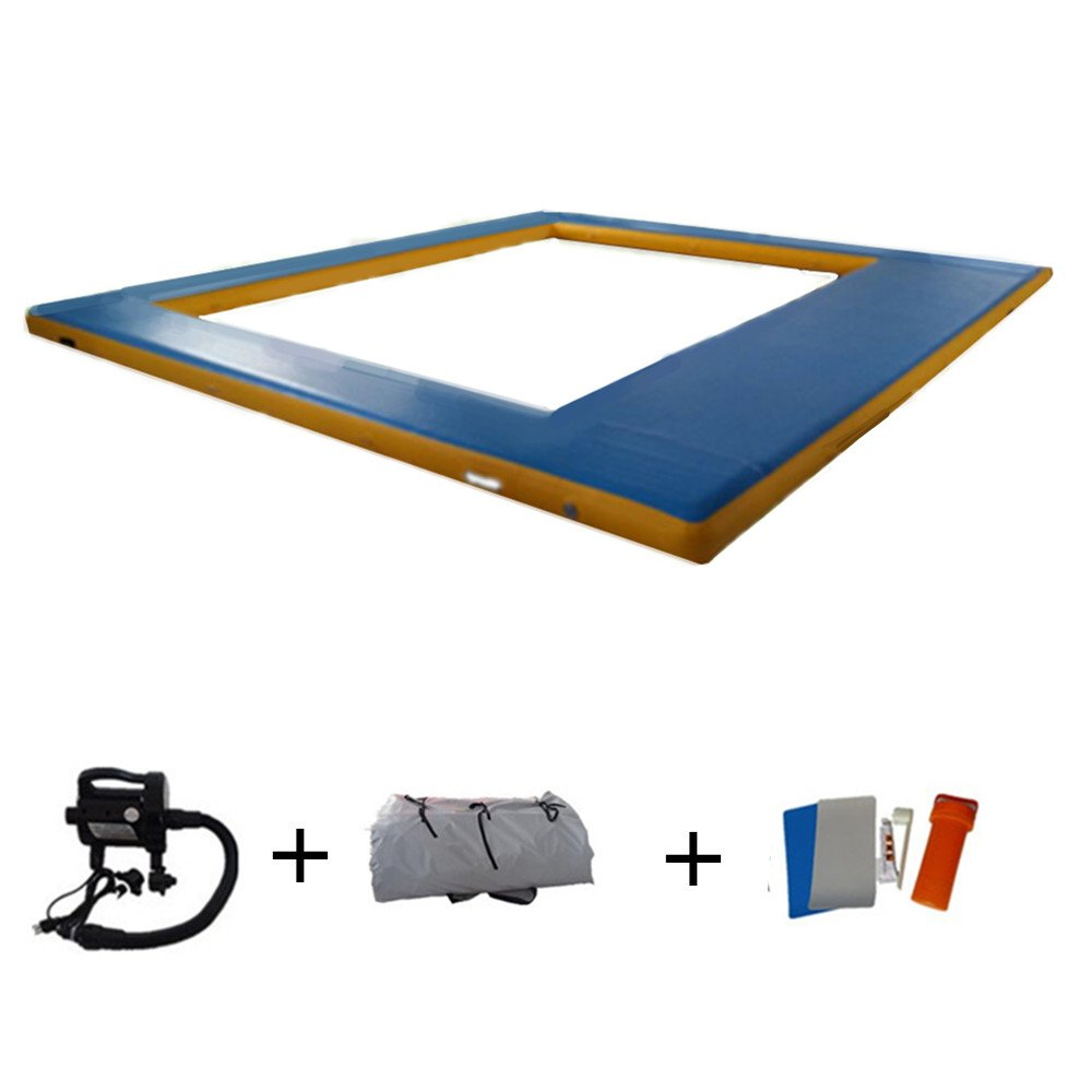 16.4ft x14.8ft Swimming Pool Inflatable Swimming Pool with Free Pump by ARCADIAW