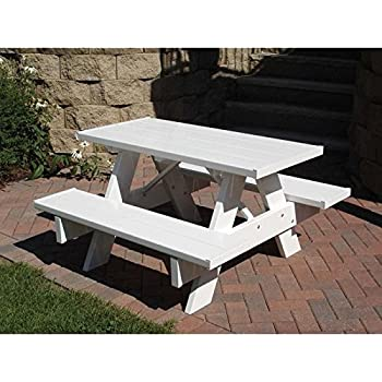 Amazoncom Lifetime Kids Picnic Table Garden Outdoor - Four sided picnic table