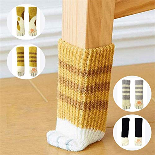 20PCS Furniture Socks /Chair Leg Floor Protector With Cute Cat Paw Design Reduce Noise(Four Colors)