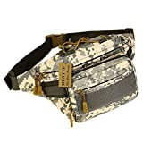 Huntvp Military Hip Fanny Pack Tactical Waist Bag Packs Waterproof Hip Belt Bag Pouch for Hiking Climbing Outdoor Bumbag ACU Camouflage