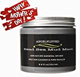 Cleansing Diet 3 Week - AngelFlipped Dead Sea Mud Mask Pure Natural Minerals Deep Cleaning the Skin , Blackhead Mask, Minimize Pores, Reduce Wrinkles, Improves Complexion, Acne Treatment for Facial Treatment 8.8 FL OZ