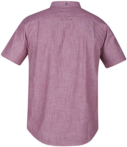 New-Hurley-Mens-One-Only-Ss-Shirt-30-Short-Sleeve-Red