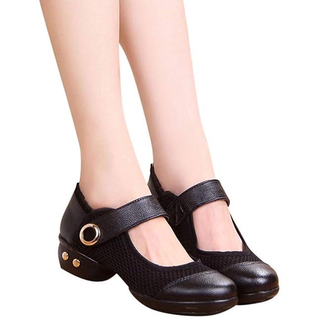 Hotcl Women s Breathable PU Leather Rumba Waltz Prom Jazz Dance Shoes Girls  Latin Tango Ballroom Sports 17da1771f485