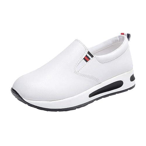 Zapatillas Deportivo Mujer,Amlaiworld Zapatos de Mujer de Fondo Plano Grueso Slip On Botines Casual Plataforma Calzado Deportivo Primavera otoño Invierno ...