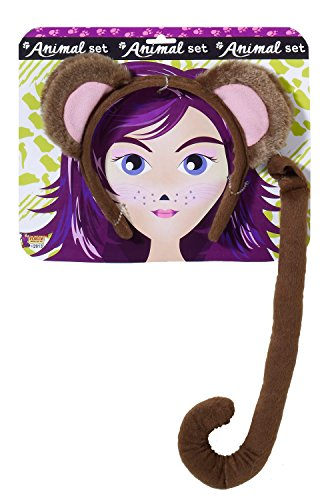 Forum Novelties Women's Playful Animals Monkey Costume Accessory Set, Multi, One size (Women Monkey Costume)