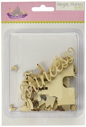 Simple Stories Enchanted Wood Veneer Shapes (29 Pack)