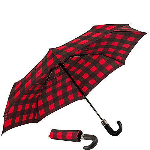 shedrain-auto-open-close-vented-compact-umbrella-buffalo-red