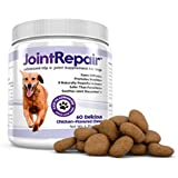 Advanced Hip & Joint Supplement for Dogs - Fast Natural Arthritis Pain Relief. Extra Strength Chews: Glucosamine, Chondroitin, MSM, Hyaluronic Acid, Organic Turmeric & Omega 3. Made in USA