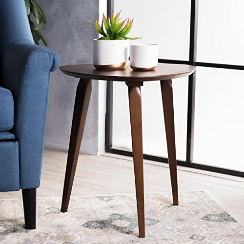 Christopher Knight Home 299915 Finnian Walnut Wood End Table,