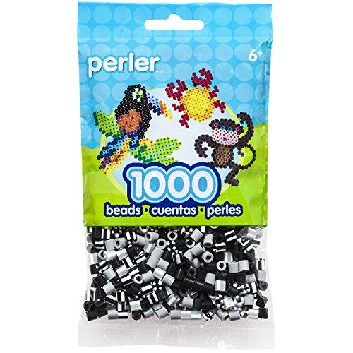 Perler Ornaments (Perler Striped Bead, Newsprint, 1000/Pack)