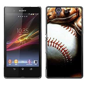 - MLB Baseball - - Monedero pared Design Premium cuero del tir¨®n magn¨¦tico delgado del caso de la cubierta pata de ca FOR Sony Xperia Z L36H L36I C6603 Xperia Z Funny House