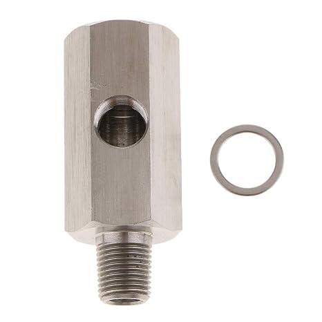 """Sharplace 1/8"""" BSPT Sensor de Presión de Aceite a NPT Adaptador de Línea"""