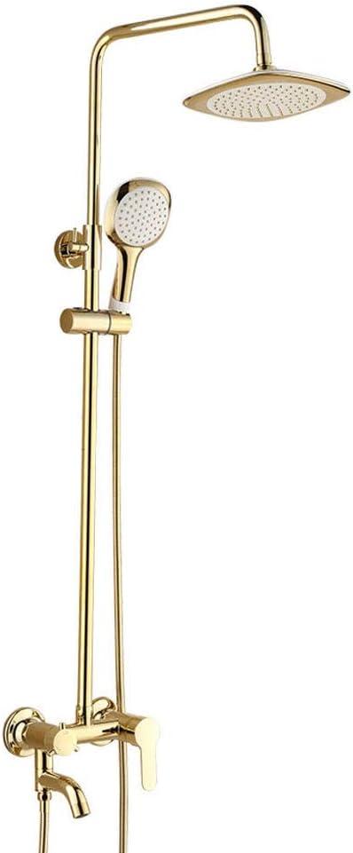 Couleur : Gold Cuivre de Style europ/éen Robinet Douche Antique syst/ème de Douche suraliment/é Haut douchette