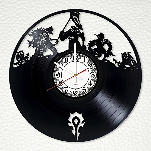Fun Door World of Warcraft Handmade Vinyl Record Wall Clock for Birthday Wedding Anniversary Valentine's Mother's Ideas for Men and Women him and her]()
