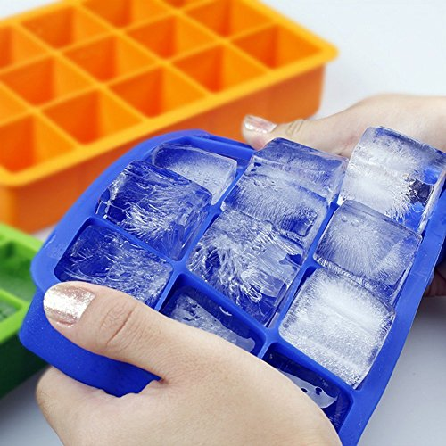 Ozera 2 Pack Silicone Ice Cube Tray Molds Candy Mold Cake