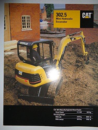 Caterpillar 302.5 Mini Hydraulic Excavator Sales Brochure Original