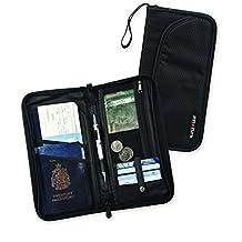 Maple Leaf Rfid Blocking Travel Organizer Wallet, Black, International Carry-On
