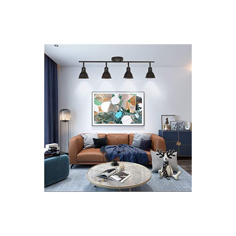 Industrial Vintage Indoor Wall Mount Spotlight BONLICHT 4 Light Modern Semi Flush Mount Ceiling Light Oil Rubbed Bronze…