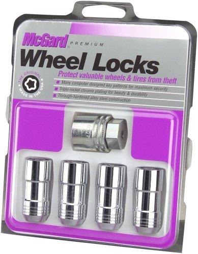 McGard 24205 Cerraduras de las ruedas del asiento de cono cromado (tamaño de rosca M14 x 2.0) - juego de 4