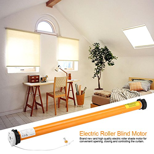100-240V Rechargeable Wired Tubular Roller Shade Motor Electric Tubular Motor Home Automation System by Yosoo (Image #6)