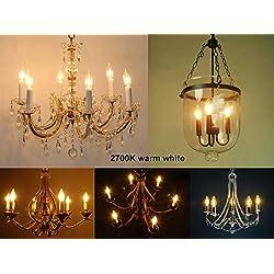 LED 40w Candelabra Light Bulbs, 4W E12 B10 Candela