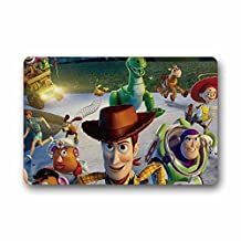 Custom the Toy Story 3 Machine Washable Top Fabric Non-slip Rubber Indoor Outdoor Home Office Bathroom Doormat Size 23.6x15.7
