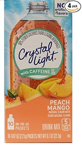 Crystal Light Peach Caffeine 10 Packet product image