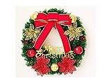 Gelaiken World Christmas Flowers Christmas Wreath Door Hanging Ornaments Room Christmas Tree Pendants for Decoration