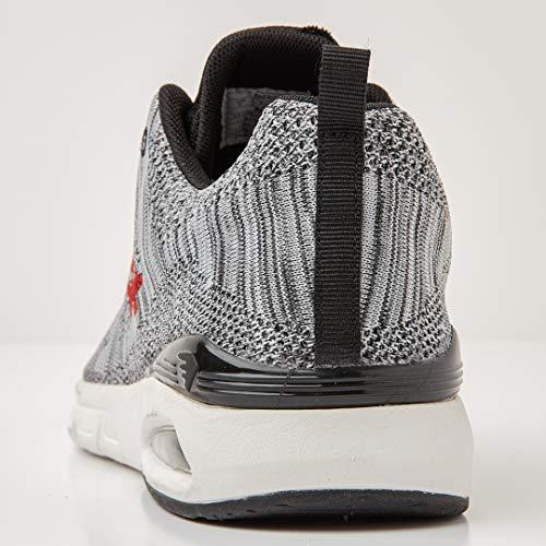 British Sneakers Bassa Nero Rosso Grigio Uomini Knights Energy Chiaro r6vnqZrw