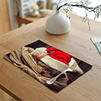 """Greengoal Christmas Placemats, Animal Placemats, Table Mats Non-Slip Heat-Resistant Washable, 12"""" x 18"""" (Set of 4)"""
