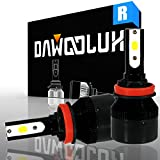 DawooLux H11 (H8 H9) LED Headlight Bulbs Conversion Kit Flip COB Chips/Internal Driver-Dual All-in-one Extremely Bright 6500K Cool White 6400 Lumens 60W, Fit Low/High beam Fog light, 2-Years Warranty